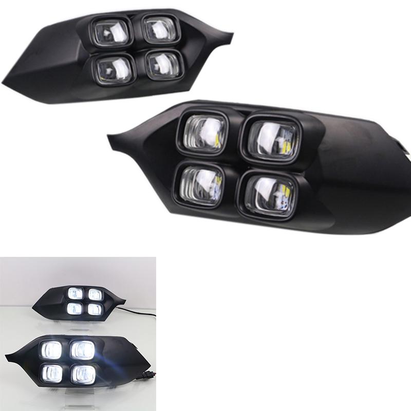 COB Xenon White 10 LED DRL Daytime Running Light Backup Interior Strip 12V 20W