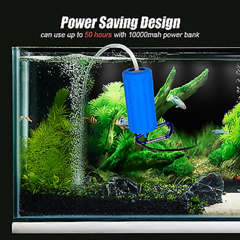 Usb-Mini-Aeration-Pump-Air-Pump-Aquarium-Aerator-Ultra-Quiet-Mini-Fish-Tank-7E6 thumbnail 9