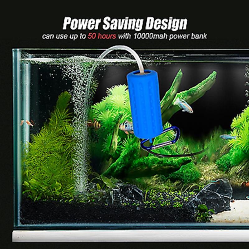 Usb-Mini-Aeration-Pump-Air-Pump-Aquarium-Aerator-Ultra-Quiet-Mini-Fish-Tank-E6I4 thumbnail 9
