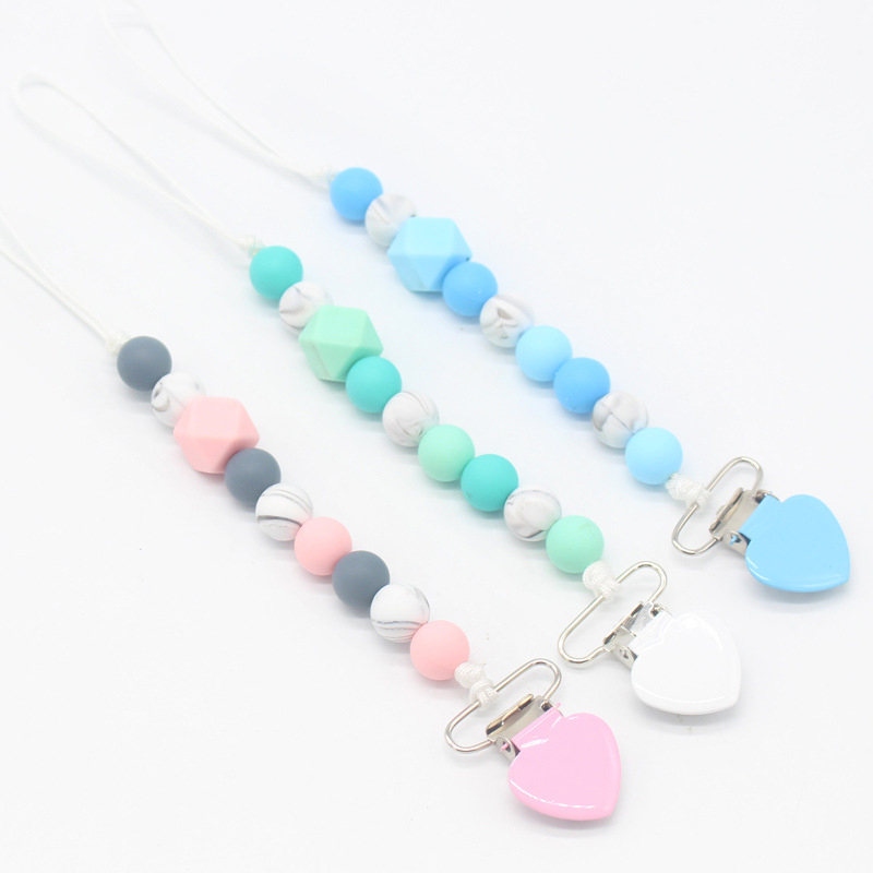 2Pcs Pacifier clips baby care pacifier accessories toy pacifier holder chain BH