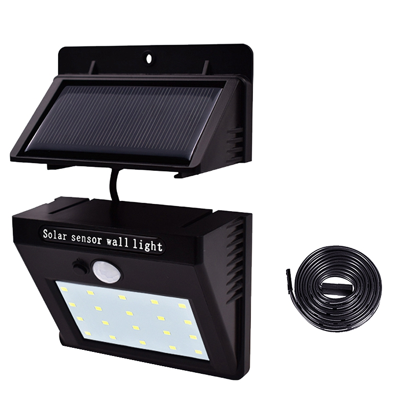 Lampe-Solaires-Capteur-De-Mouvement-Exterieur-20-Leds-Pir-Lampe-Separable-Ac-2C7 miniature 3