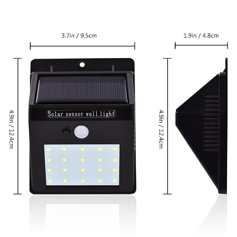 Lampe-Solaires-Capteur-De-Mouvement-Exterieur-20-Leds-Pir-Lampe-Separable-Ac-2C7 miniature 5