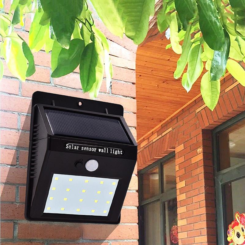 Lampe-Solaires-Capteur-De-Mouvement-Exterieur-20-Leds-Pir-Lampe-Separable-Ac-2C7 miniature 8