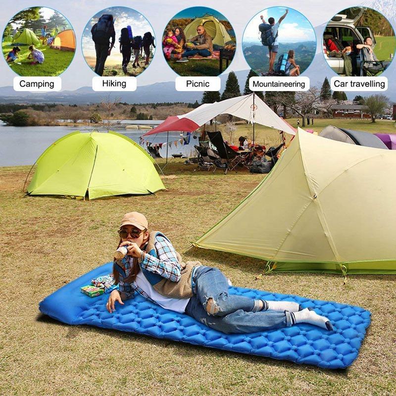 Matelas-De-Camping-Ultra-LEGer-Matelas-Autogonflant-Camping-Excursion-Rando-8W1 miniature 8