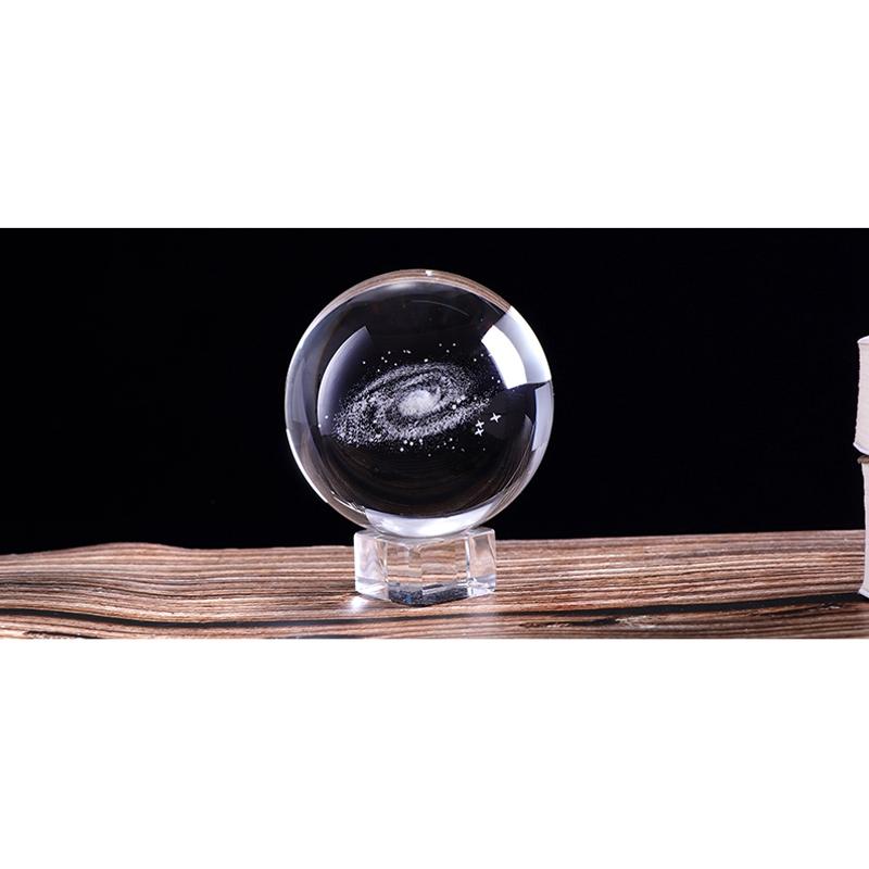 6-Cm-DiAMetro-Globo-Galaxia-Bola-De-Cristal-Miniaturas-Esfera-Bola-De-Vidri-E1L6 miniatura 5