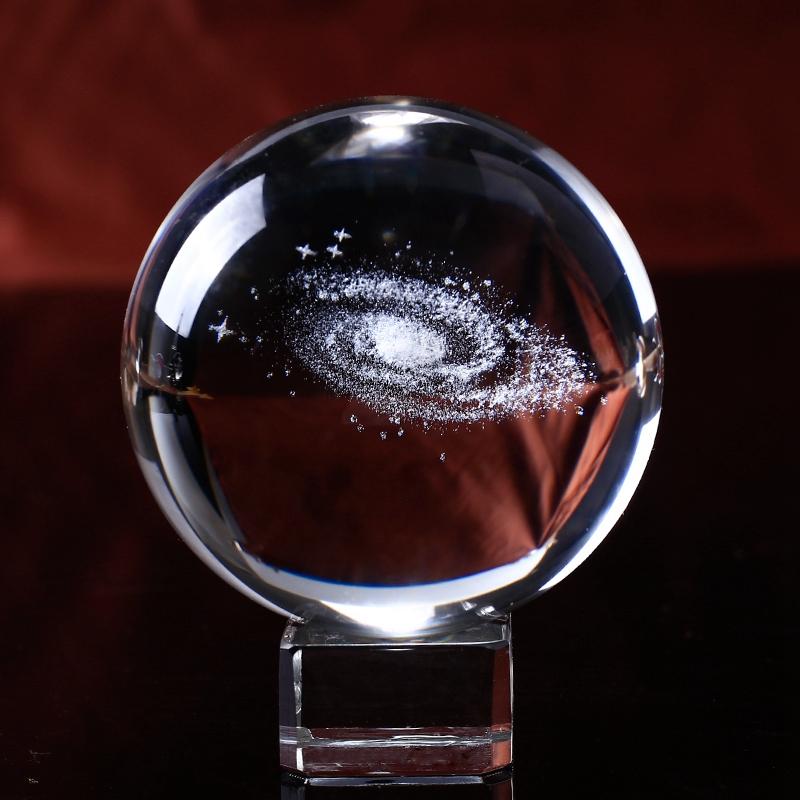 6-Cm-DiAMetro-Globo-Galaxia-Bola-De-Cristal-Miniaturas-Esfera-Bola-De-Vidri-E1L6 miniatura 6