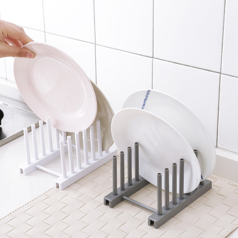 Kitchen-Organizer-Pot-Lid-Rack-Dish-Rrain-Rack-Spoon-Holder-Shelf-Cutting-BJ1Y1 thumbnail 6