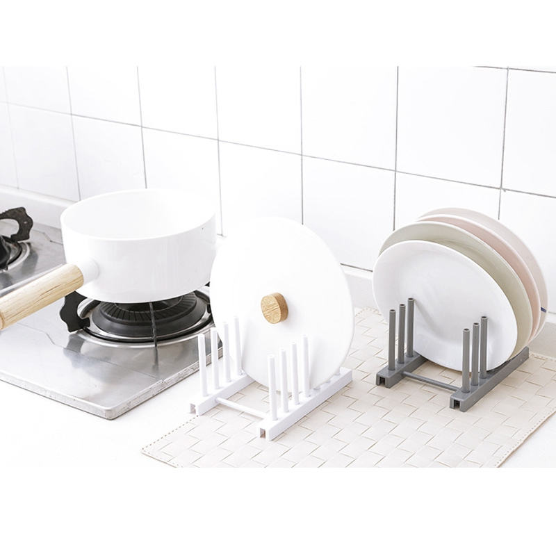 Kitchen-Organizer-Pot-Lid-Rack-Dish-Rrain-Rack-Spoon-Holder-Shelf-Cutting-BJ1Y1 thumbnail 10