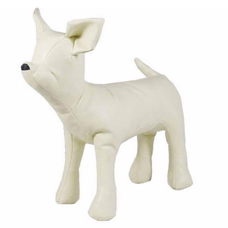 Leather-Dog-Mannequins-Standing-Position-Dog-Models-Toys-Pet-Animal-Shop-Di-H1H9 thumbnail 2