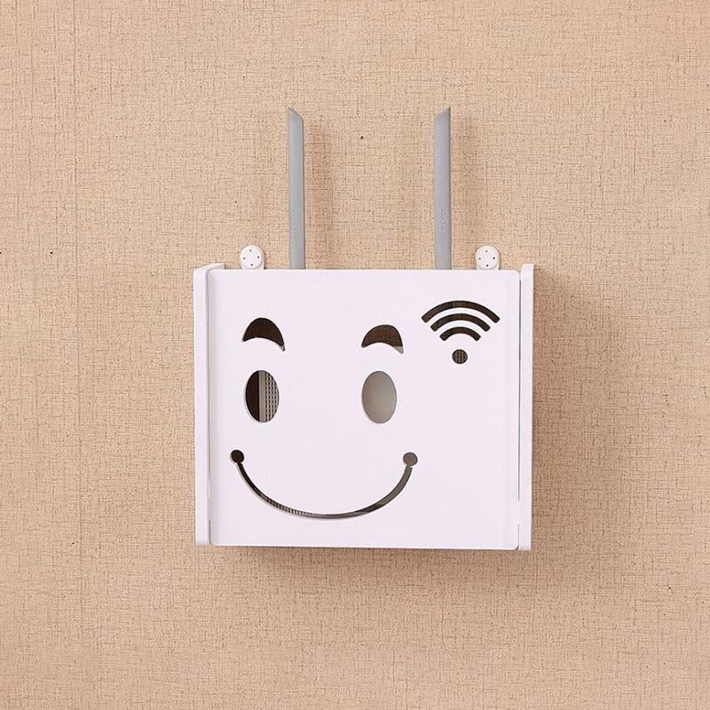 Drahtlos-Wifi-Router-Aufbewahrungs-Box-Holz-Kunststoff-Regal-Wand-Behaenge-H-A1A7 Indexbild 3