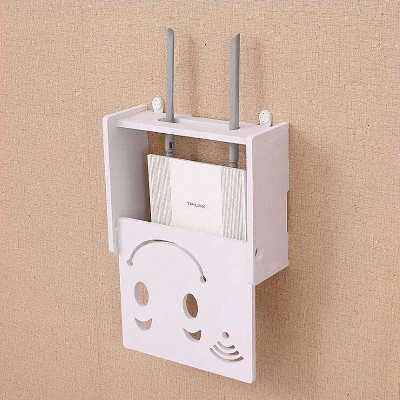 Drahtlos-Wifi-Router-Aufbewahrungs-Box-Holz-Kunststoff-Regal-Wand-Behaenge-H-A1A7 Indexbild 4