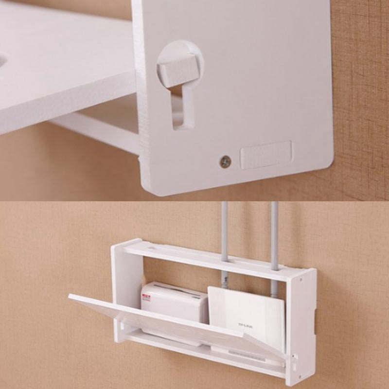 Drahtlos-Wifi-Router-Aufbewahrungs-Box-Holz-Kunststoff-Regal-Wand-Behaenge-H-A1A7 Indexbild 5