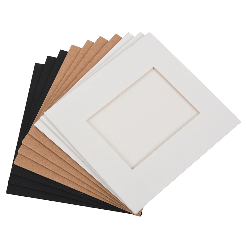 Set Paper Photo DIY Wall Picture Hanging Frame Album Rope Clip Set Home Decor 3inch Black R 10 Pcs SODIAL