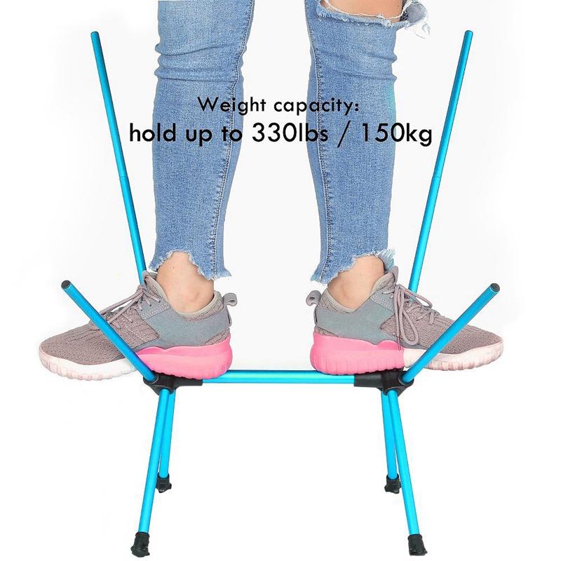 1X-Silla-Plegable-Ultraligera-Con-Bolsa-De-Transporte-Sillas-De-Camping-Bar-O7K9 miniatura 15