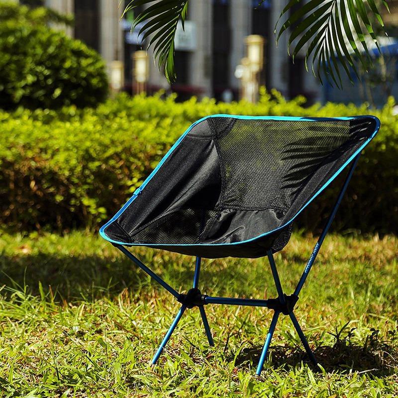 1X-Silla-Plegable-Ultraligera-Con-Bolsa-De-Transporte-Sillas-De-Camping-Bar-O7K9 miniatura 17