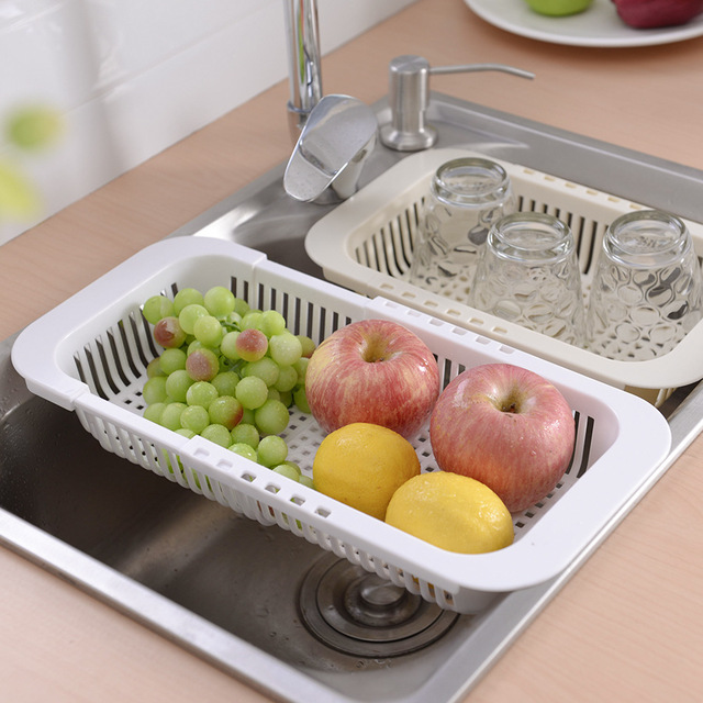 Multifunctional-Thickened-Kitchen-Retractable-Sink-Drain-Rack-Vegetable-FruF1P5 thumbnail 3