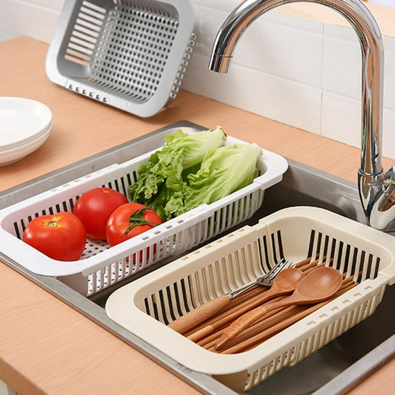 Multifunctional-Thickened-Kitchen-Retractable-Sink-Drain-Rack-Vegetable-FruF1P5 thumbnail 7