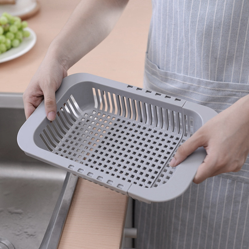 Multifunctional-Thickened-Kitchen-Retractable-Sink-Drain-Rack-Vegetable-FruF1P5 thumbnail 12