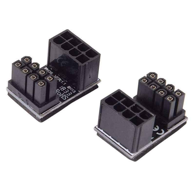 Female ATX 8Pin to 8pin Male 180 ° Power Adapter for Desktops Graphics Card GL