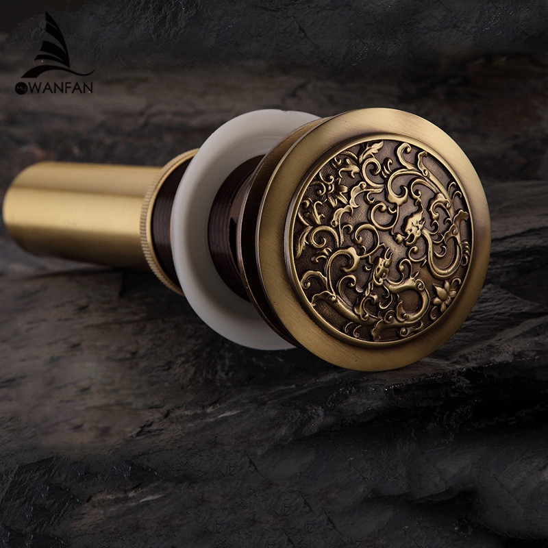 Antique-Chinese-Dragon-Style-Bathroom-Bouncing-Into-The-Water-Basin-Basin-E6U9 thumbnail 4