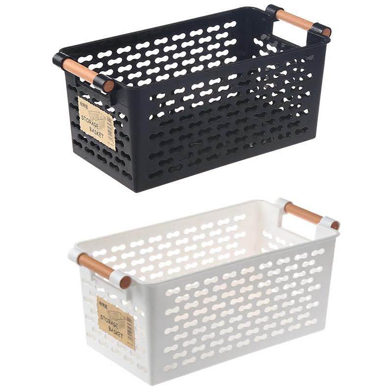 Kunststoff-Desktop-Ablage-Korb-Rechteckigen-Bad-Tragbare-Aufbewahrungs-Box-M8A3 Indexbild 3