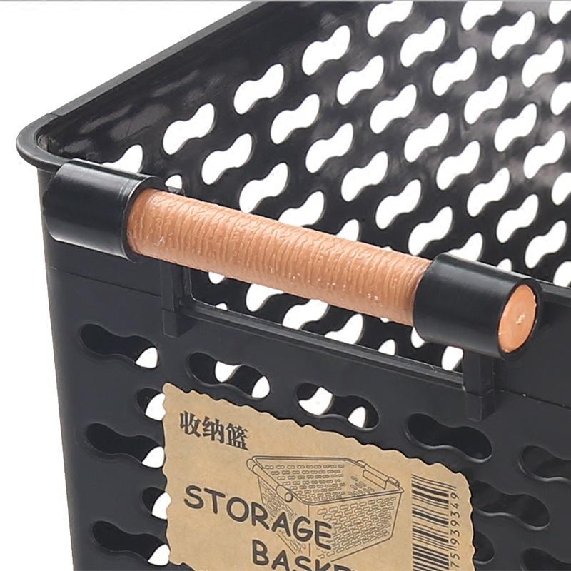 Kunststoff-Desktop-Ablage-Korb-Rechteckigen-Bad-Tragbare-Aufbewahrungs-Box-M8A3 Indexbild 12