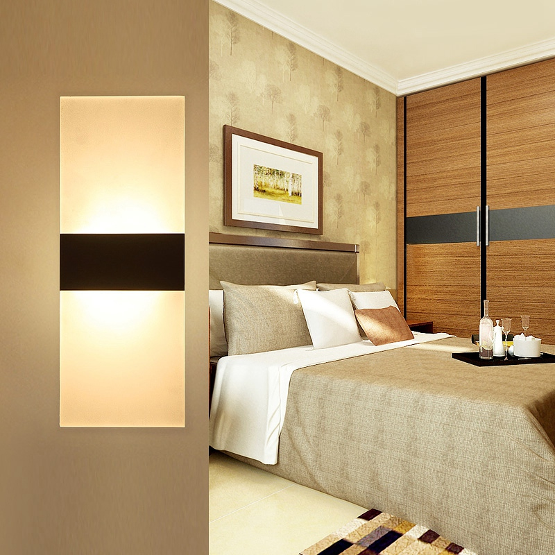 Applique-Murale-Acrylique-Led-6W-22Cm-Appliques-Murales-Interieures-Salon-D8G1 miniature 13