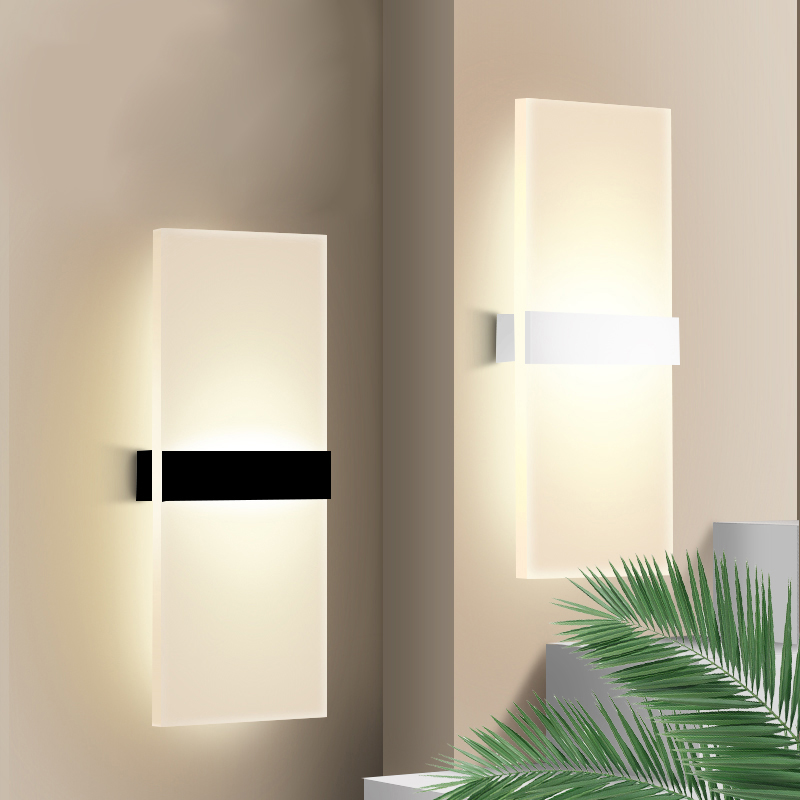 Applique-Murale-Acrylique-Led-6W-22Cm-Appliques-Murales-Interieures-Salon-D8G1 miniature 14