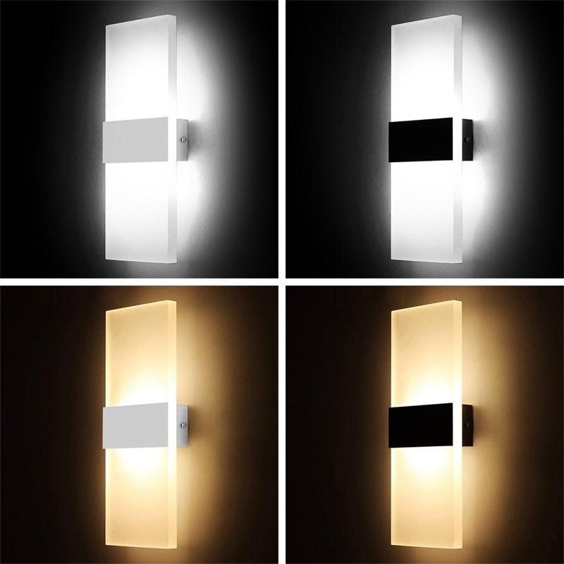 Applique-Murale-Acrylique-Led-6W-22Cm-Appliques-Murales-Interieures-Salon-D8G1 miniature 7