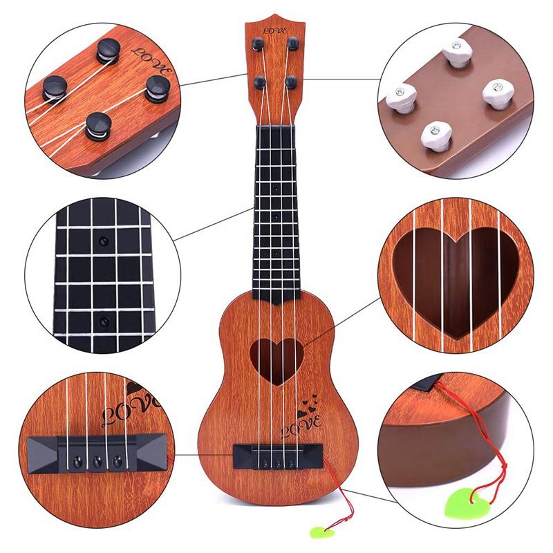 Juguete-Guitarra-De-EducacioN-Infantil-Temprano-Instrumento-Guitarra-Ukelel-J3D2 miniatura 16