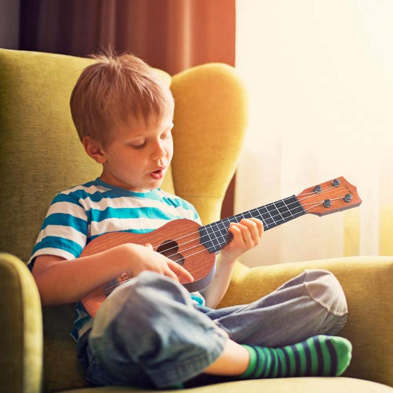 Juguete-Guitarra-De-EducacioN-Infantil-Temprano-Instrumento-Guitarra-Ukelel-J3D2 miniatura 18