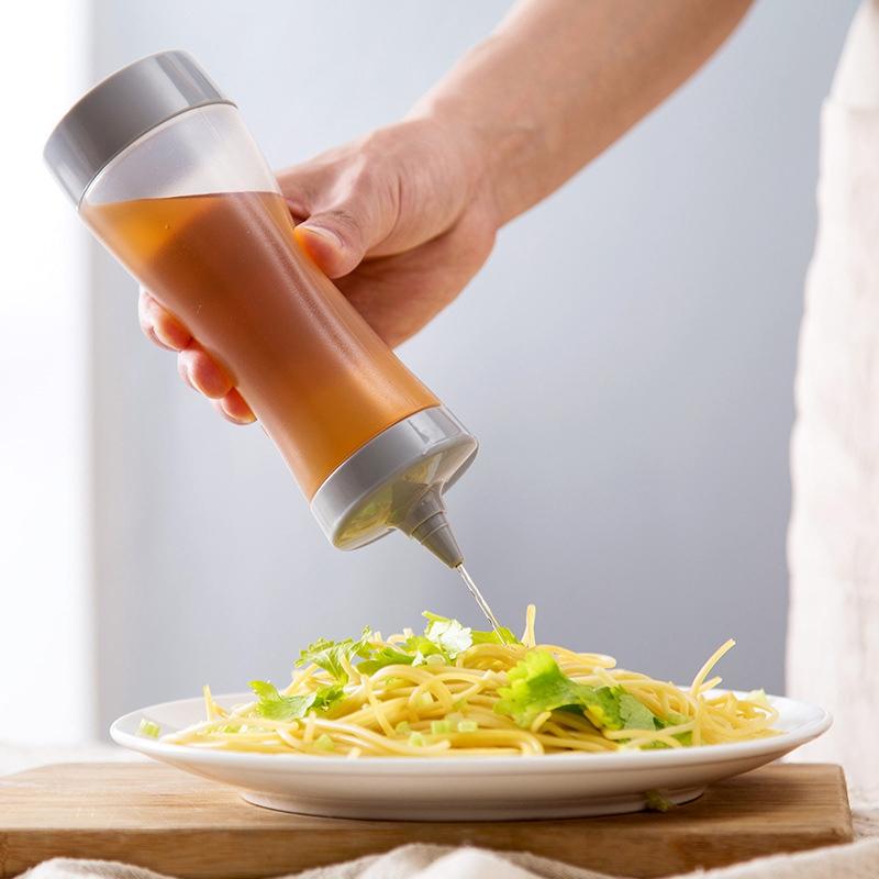 Bouteille-Compressible-Accessoires-De-Cuisine-Distributeur-De-Condiments-A-F2J1 miniature 5