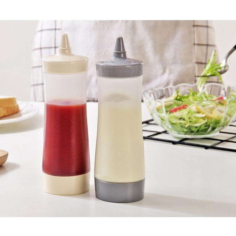 Bouteille-Compressible-Accessoires-De-Cuisine-Distributeur-De-Condiments-A-F2J1 miniature 6