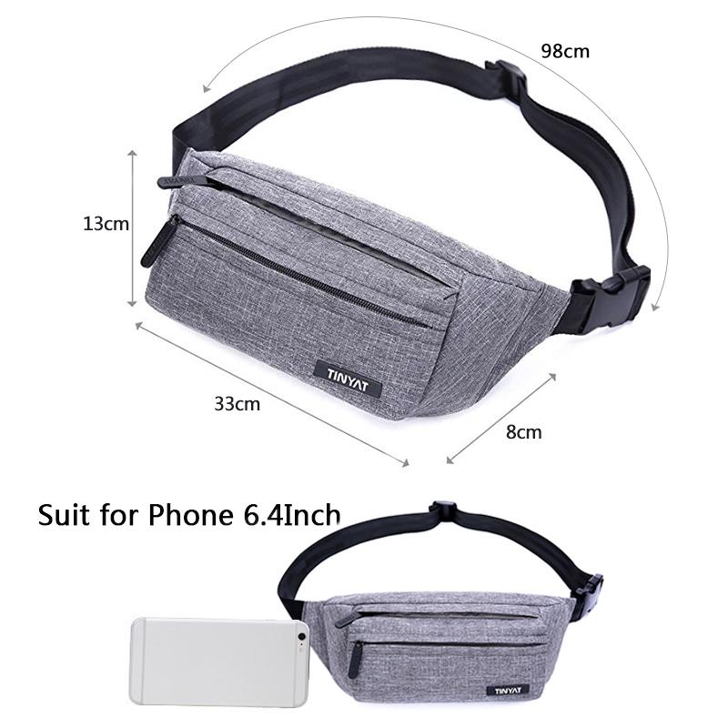 Tinyat-Paquete-Bolsa-De-Cintura-Masculino-Para-Hombre-Bolsa-De-CinturoN-Fun-J6F8 miniatura 9