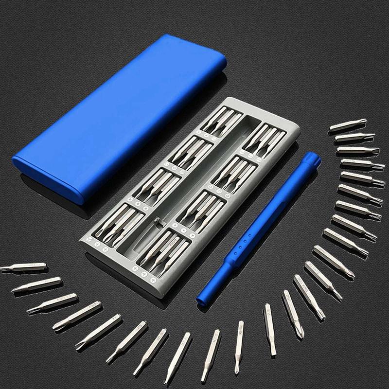 3X-Ensemble-de-Mini-Tournevis-Usage-Quotidien-25-Boite-de-Bits-Magnetiques-6X6 miniature 3