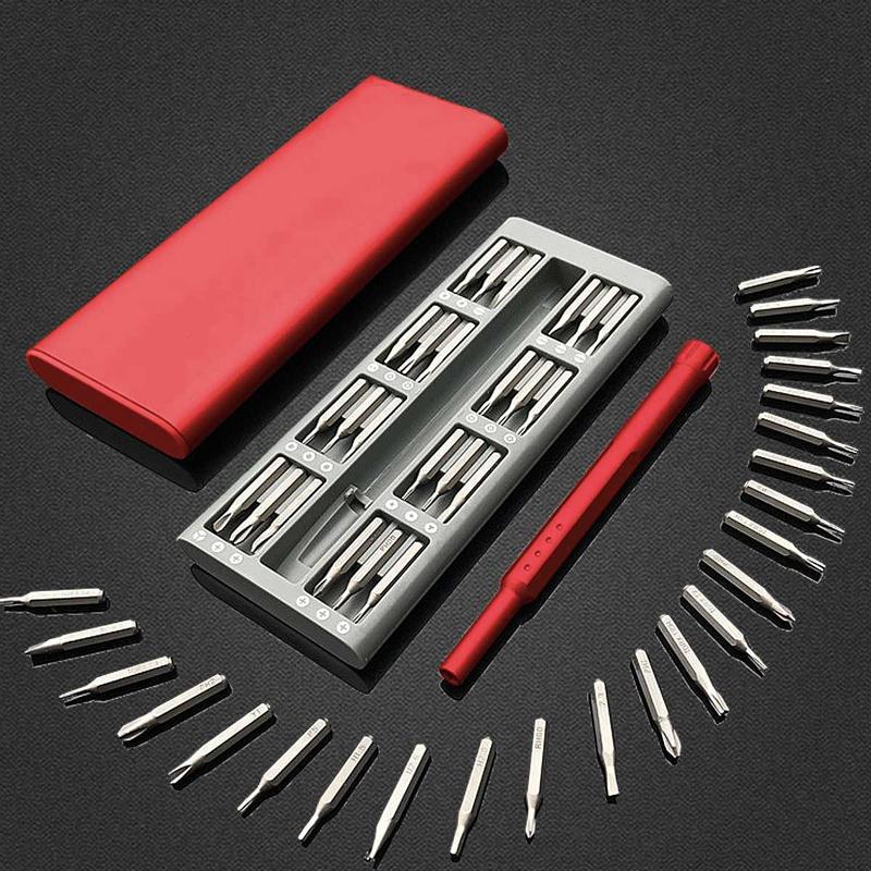 3X-Ensemble-de-Mini-Tournevis-Usage-Quotidien-25-Boite-de-Bits-Magnetiques-6X6 miniature 9