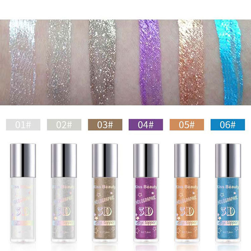 2X-Kiss-Beauty-3D-Metal-Liquid-Eyeshadow-Glitter-Eye-Shadow-Liquid-Shimmer-A9F1 thumbnail 4