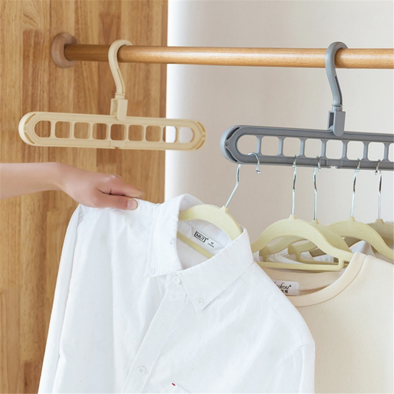 Multi-Port-Support-Circle-Clothes-Hanger-Clothes-Drying-Rack-Multifunction-I1Y8 thumbnail 5