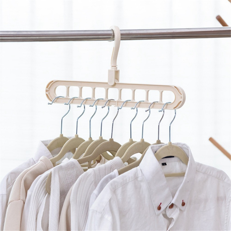 Multi-Port-Support-Circle-Clothes-Hanger-Clothes-Drying-Rack-Multifunction-I1Y8 thumbnail 12