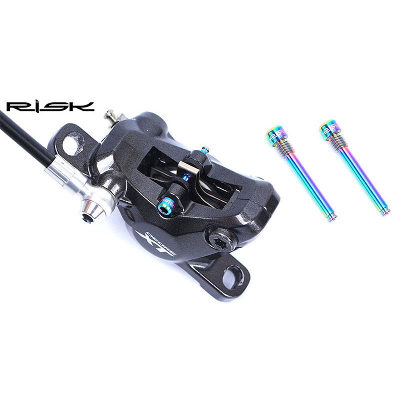 5X-RISK-2Pcs-M4-Alliage-de-Titane-Boulons-Fixes-Pour-Shimano-Xt-Cyclisme-Bo-G4P6 miniature 6