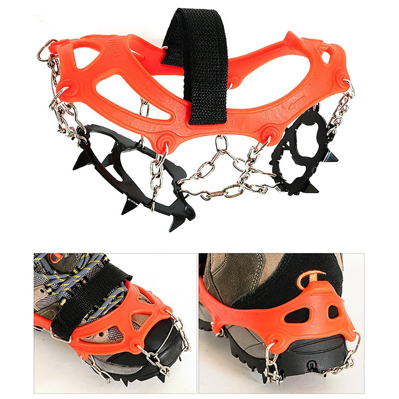 Crampons-12-Teeth-Outdoor-Mountaineering-Hiking-Antislip-Ice-Snow-Shoe-Spik-G3O6 thumbnail 5