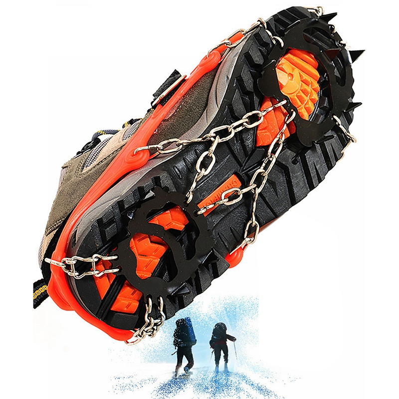 Crampons-12-Teeth-Outdoor-Mountaineering-Hiking-Antislip-Ice-Snow-Shoe-Spik-G3O6 thumbnail 7