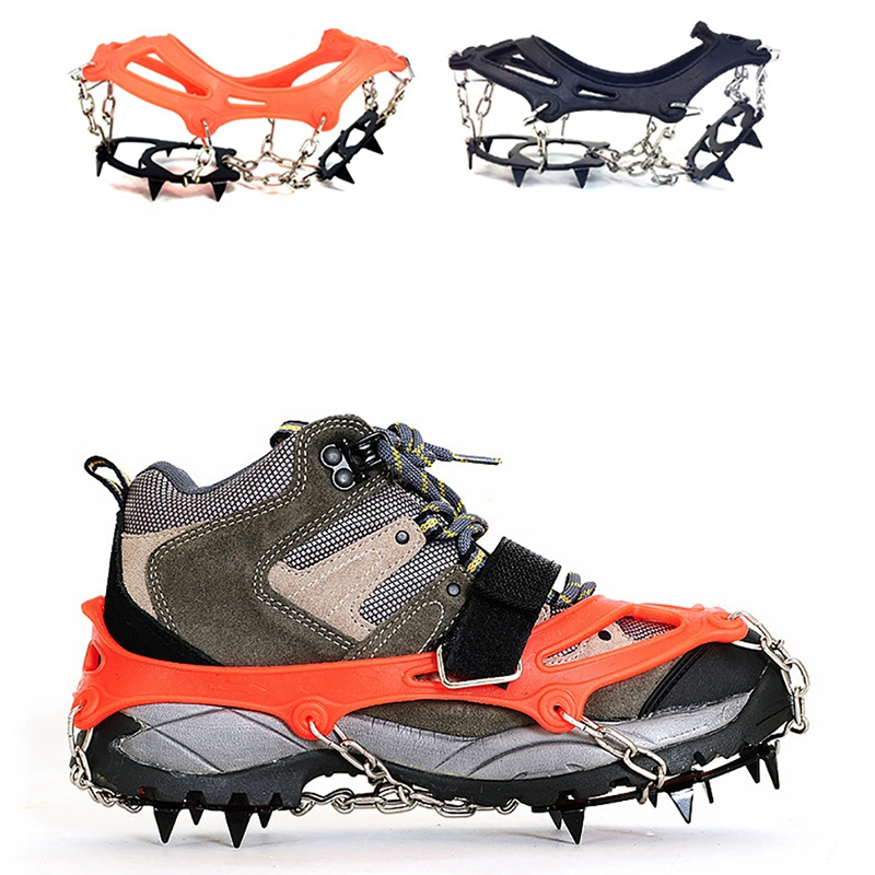 Crampons-12-Teeth-Outdoor-Mountaineering-Hiking-Antislip-Ice-Snow-Shoe-Spik-G3O6 thumbnail 8