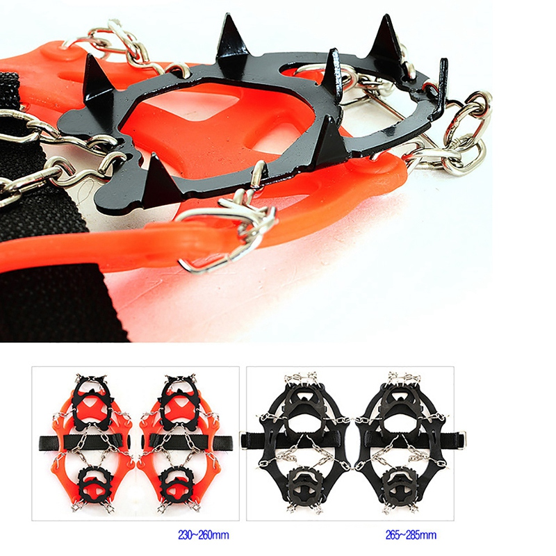Crampons-12-Teeth-Outdoor-Mountaineering-Hiking-Antislip-Ice-Snow-Shoe-Spik-G3O6 thumbnail 14