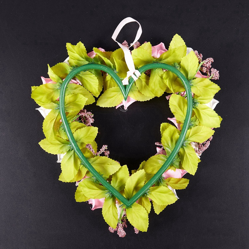 Heart-Shaped-Artificial-Flower-Wreath-Door-Decoration-Hanging-Wreaths-with-W6M2 thumbnail 5
