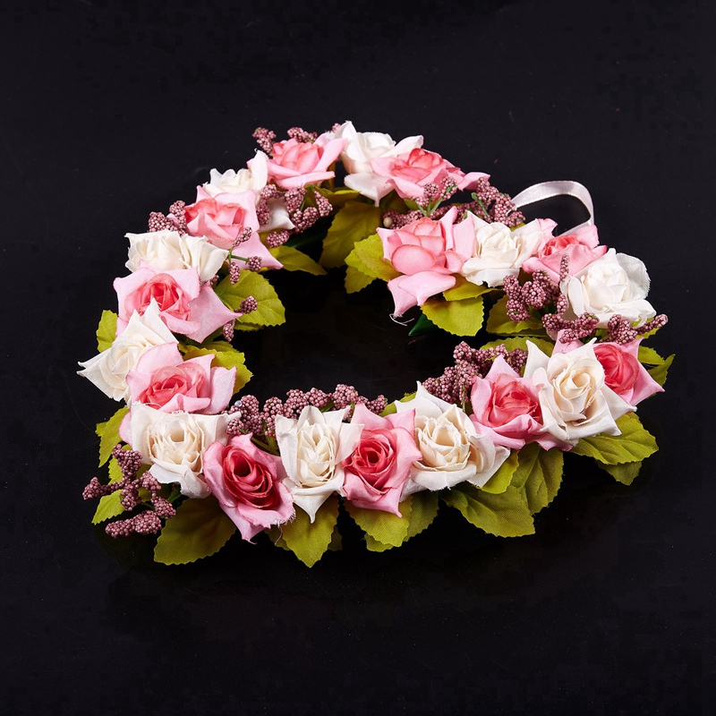 Heart-Shaped-Artificial-Flower-Wreath-Door-Decoration-Hanging-Wreaths-with-W6M2 thumbnail 6