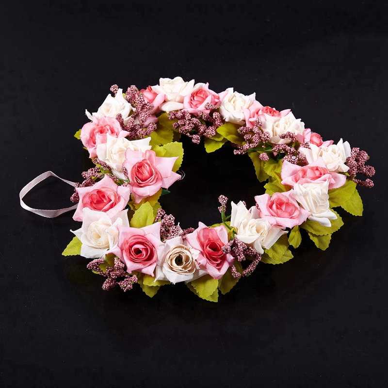 Heart-Shaped-Artificial-Flower-Wreath-Door-Decoration-Hanging-Wreaths-with-W6M2 thumbnail 7