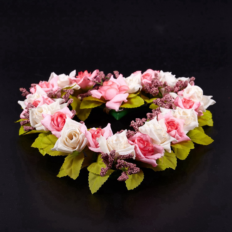 Heart-Shaped-Artificial-Flower-Wreath-Door-Decoration-Hanging-Wreaths-with-W6M2 thumbnail 10