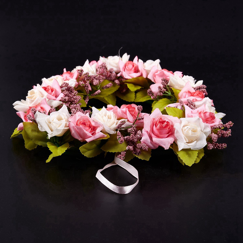 Heart-Shaped-Artificial-Flower-Wreath-Door-Decoration-Hanging-Wreaths-with-W6M2 thumbnail 11