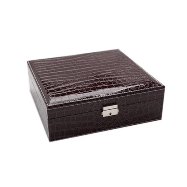 Boite-A-Bijoux-Carree-En-Cuir-Avec-Miroir-Coffrets-A-Bijoux-Boite-De-Rangem-C3R9 miniature 18